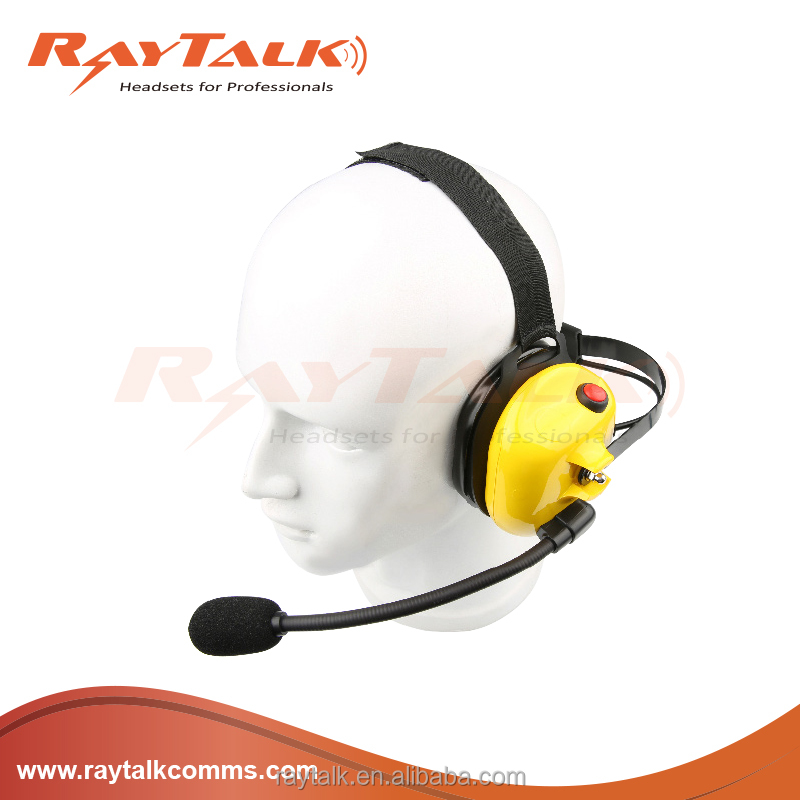 Noise Canceling Heavy Duty Headset with Inline PTT cable for two-way radio TK2140,TK3140,TK3180,TK280,TK380,TK480,NX200,NX300