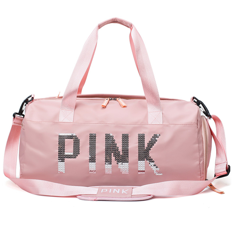 high quality customized waterproof best private label cylinder shaped zip lock clothes travel duffle bag with logo