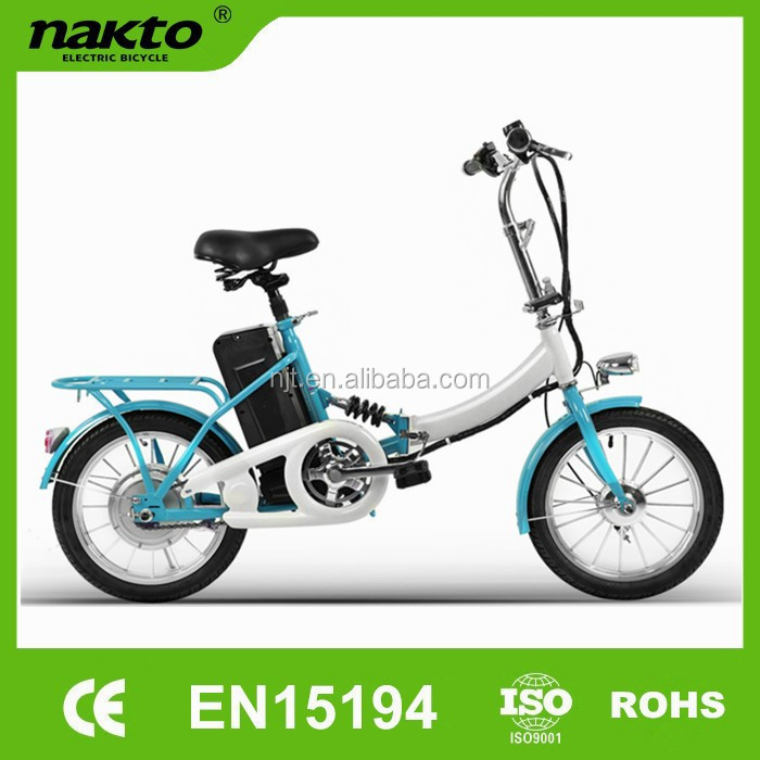 250W shock resistant folding electric bike