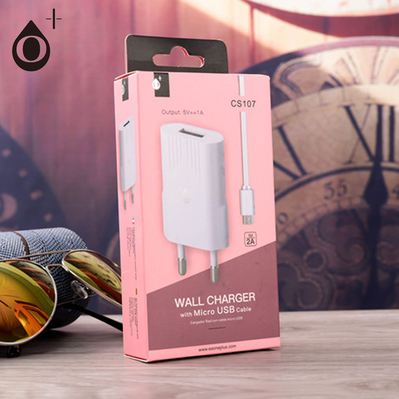 Wholesale universal wall mount socket usb charger adapter with Micro USB cable