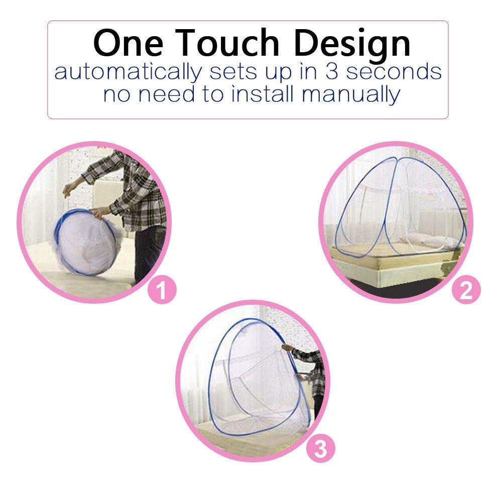 One Touch Mosquiteros Para Cama Plegable Yurt Mosquito Neto Tienda ...