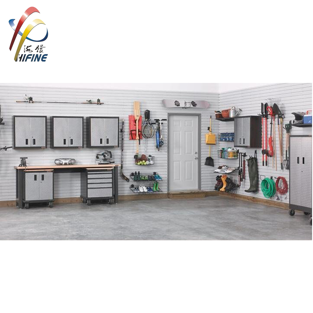 Hot Koop Garage Opslag PVC Slatwall Panel