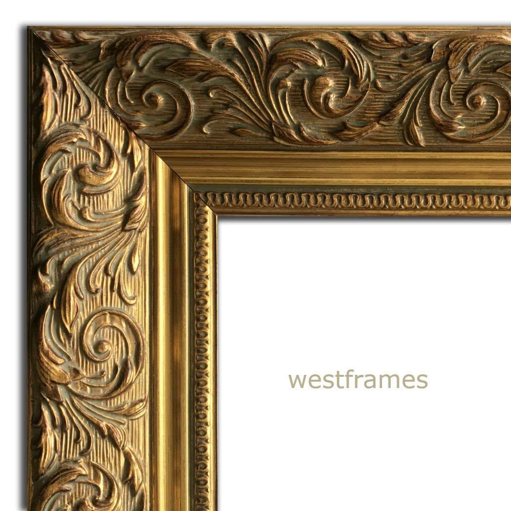 "West Frames Bella Ornate Embossed Wood Picture Frame (30"" x 40"", Antique Gold)"