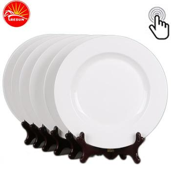 Wholesale Ceramic Plate Cheap Bulk Flat White Porcelain Dinner