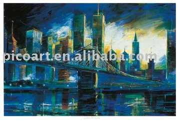 Canvas CITYSCAPE oil painting(New York)