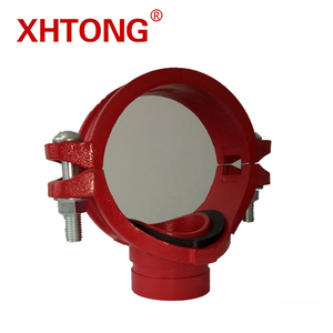 CE/FM/UL Approved Ductile Iron Threaded Mechanical Tee For Fire Fighting