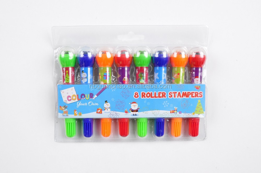 8pcs roller stamper water color pen N-580
