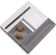 Distinctive zement material multi-funktion platte & tray