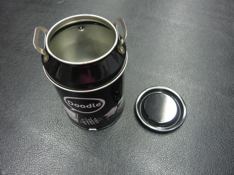 Milk Tin Can with sharpener, Milk Shaped Tin