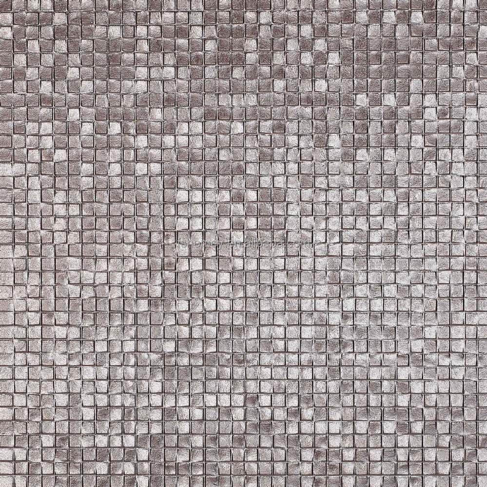 Tile For Restaurant Kitchen Floors 3d Sliver Matte Glazed Metallic Porcelain Ceramic Tiles For