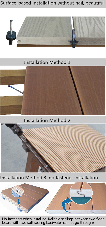 Sealing Wood Composite Decking Pvc Outdoor Flooring - Buy ...
