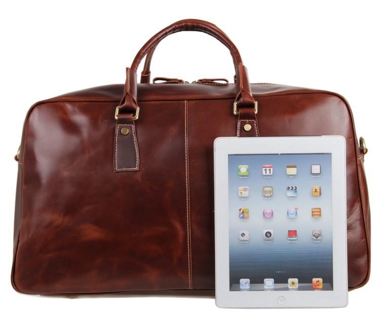 51cm Length Big Size Vintage Genuine Leather Large Travel Bag ...