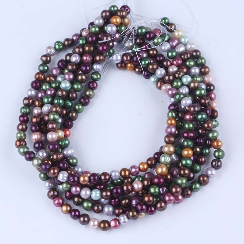 7-8mm Freshwater potato pearl with 1mm hole
