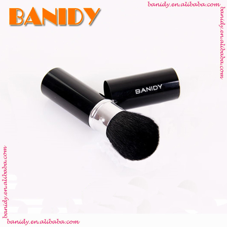 Aluminium handle Retractable Round Top Kabuki Cosmetic Brush/Makeup Brush cosmeticos