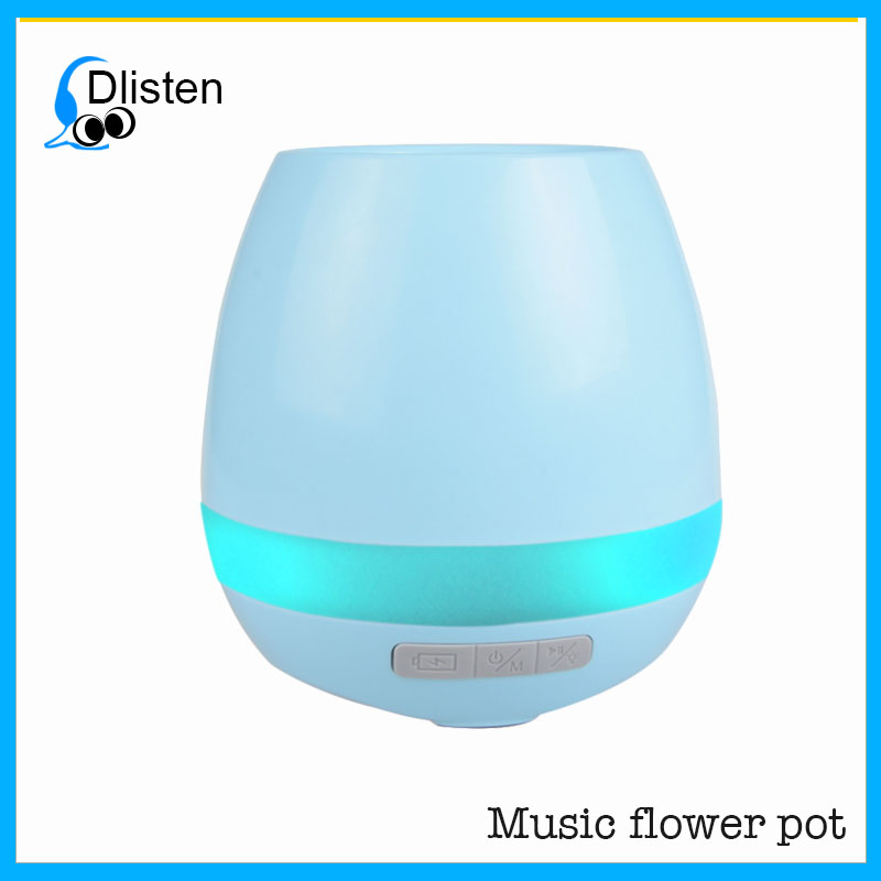 Modern design plastic waterproof BT magic music led decorative smart flower pots