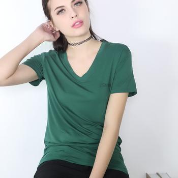 8ee38593 Manufacturers wholesale new summer xxxxxxl plus big size the fiber female V-neck  short sleeve