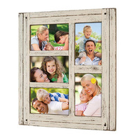 Farmhouse Rustic Distressed Wood Collage Picture Frames