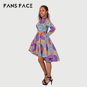 c046ed2452f5c 2018 Trendy style wax print hollandaise african kitenge dress designs  clothing,african wax print clothes