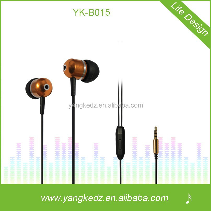 Customized stereo metal inear mp3 music player mp3 mp4 earphones
