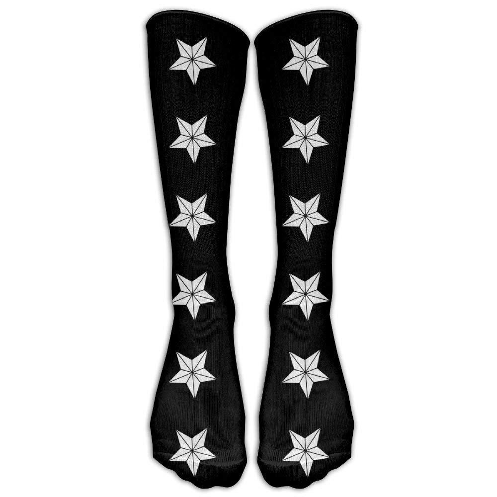 Poker Pattern Printed Crew Socks Warm Over Boots Stocking Trendy Warm Sports Socks