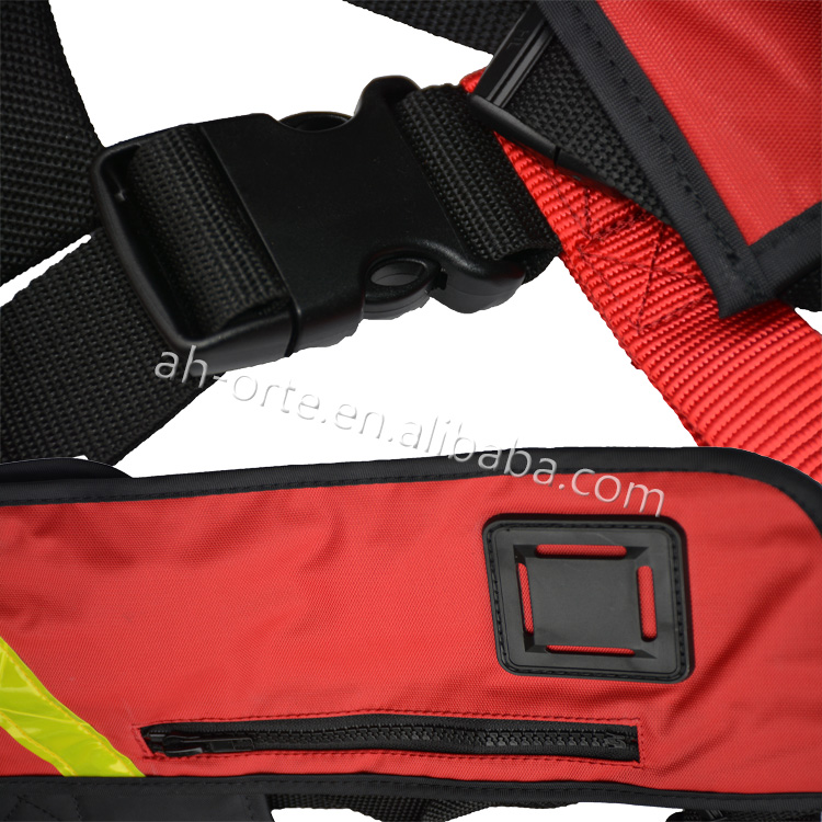 Customized Wholesale Black Manual Inflatable PFD Life Jacket Vest with CE