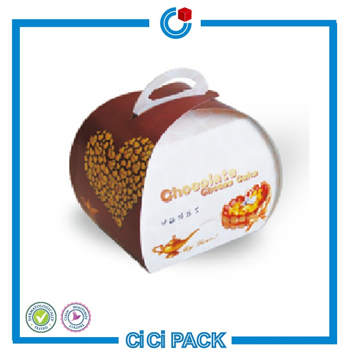 Custom size design moon cake cup cake paper boxes package with logo