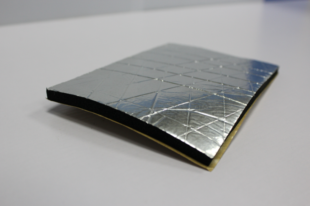 Aluminum Foil Self Adhesive Nbr Pvc Insulation Foam Sheet
