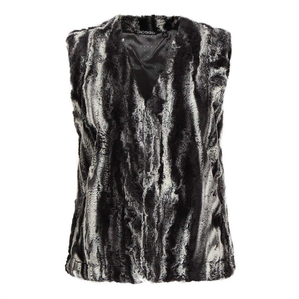 Get Quotations · SNO SKINS Faux Fur Short Vest Womens 3732907c6