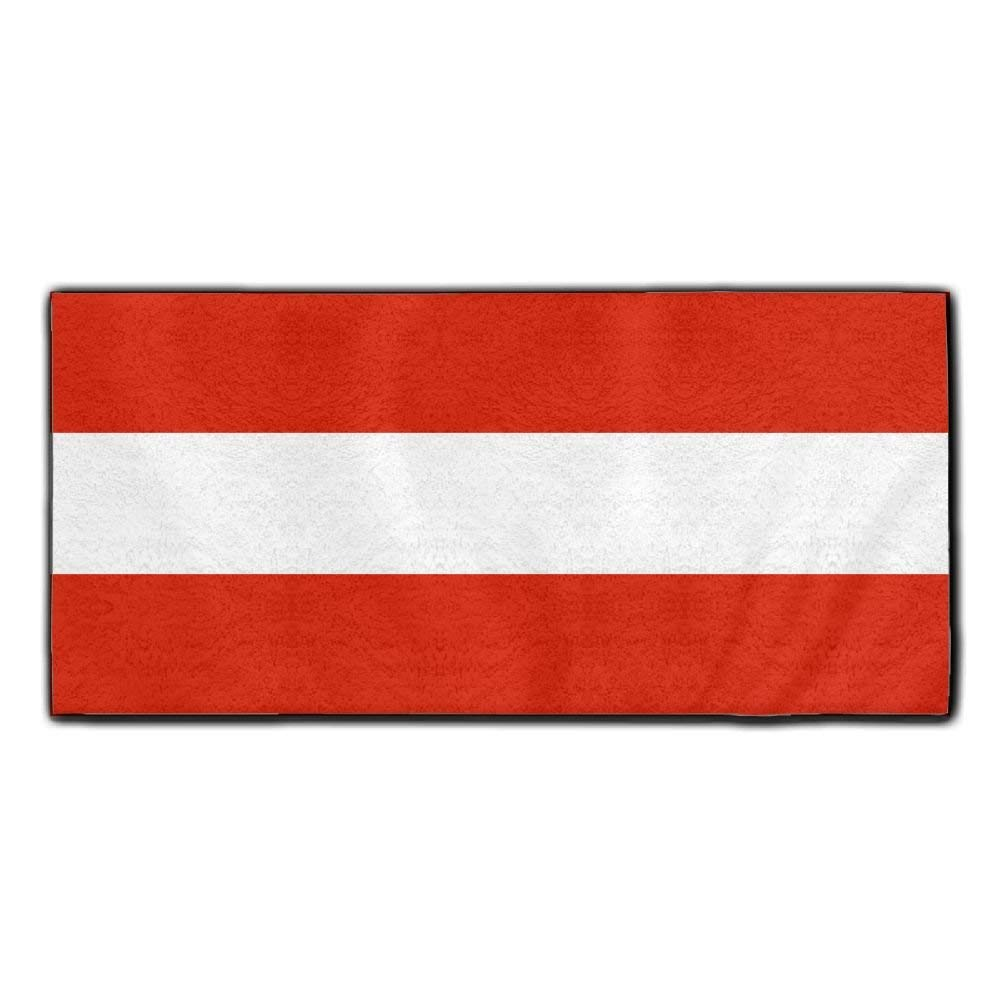 ChunLei Austria Flag Washcloths Face Towel Hair Care Towel Gym And Spa Towel Kitchen Dish Towel
