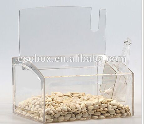 Wholesale plastic bulk food container for bulk food dispensing