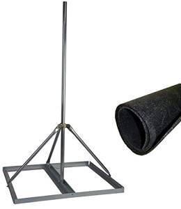 """Non-Penetrating Roof Mount with 1.25"""" x 60"""" Mast w/ ROHN Roof Mat - EZ NP-60-125"""