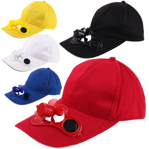hot selling solar fan baseball cap with high quality