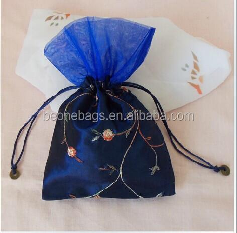 Indian Gift Bag Iridescent Silk Fabric Wedding Gift Bags - Buy ...