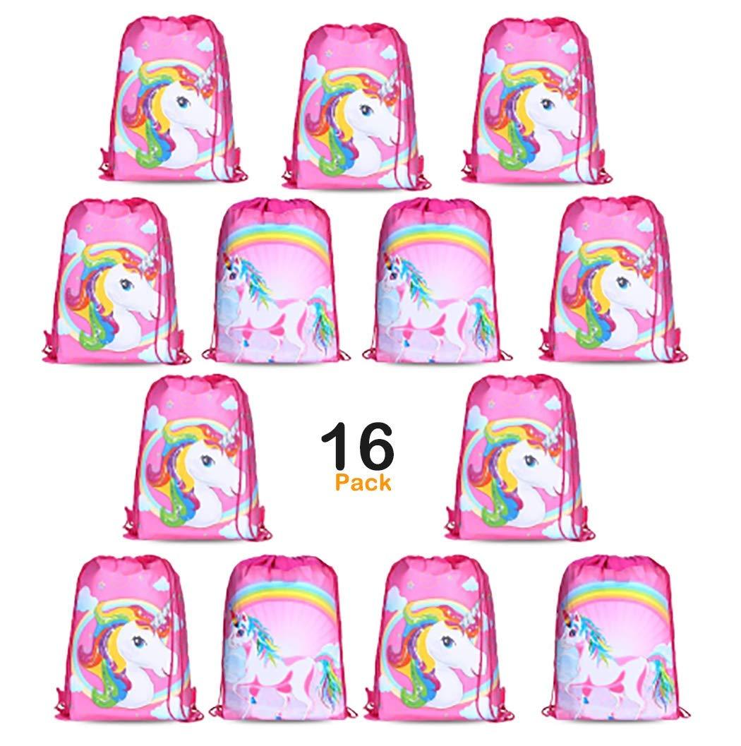 Get Quotations JLK Rainbow Unicorn Drawstring Bags Kids Girls Birthday Party Supplies Favor Goodie Shoulder Gift