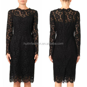 dongguan city huilin apparel latest dress designs photos ladies fancy dress black lace dress patterns