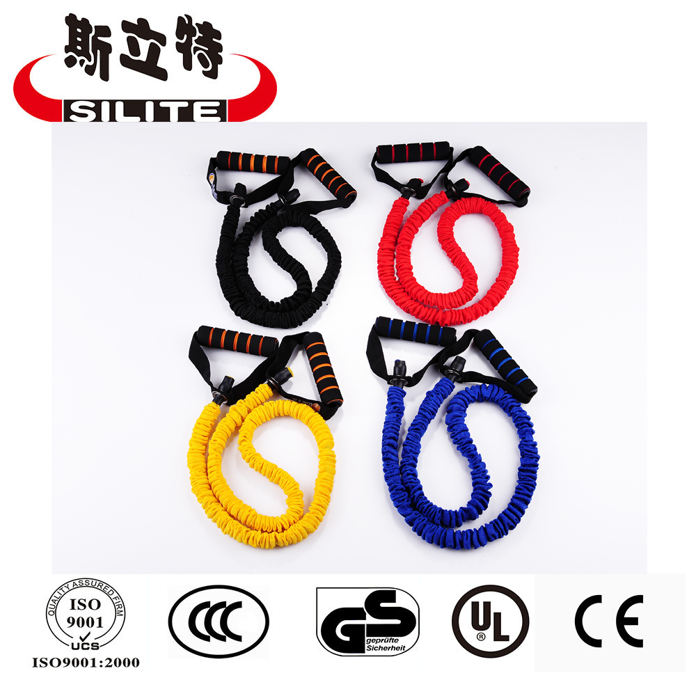 New design Exercise Resistance Bands with Polyester covers