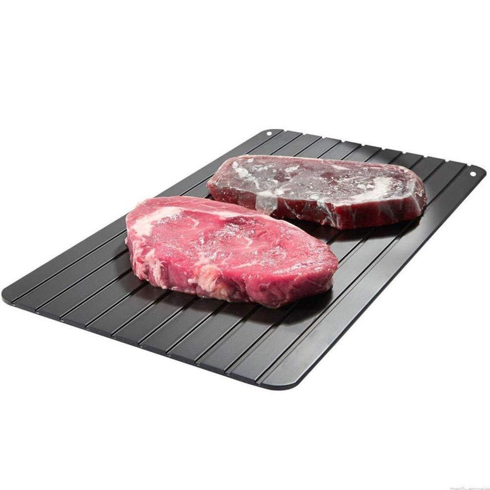 Tray Defrosting Fast Meat Frozen Defrost Food Thawing Rapid Kitchen Plate Thaw Aluminium Fast dissolve Tray Frozen Meat Defrost Plate Board Tool