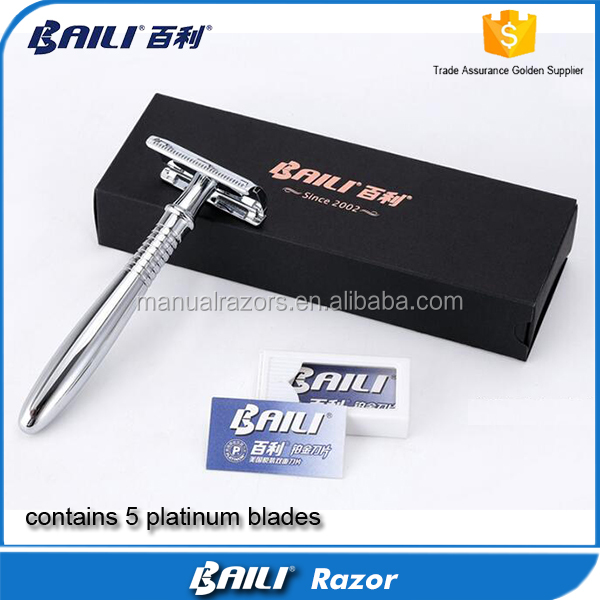 Baili shaver, double edge shaving razor, straight razor gift for boy friend