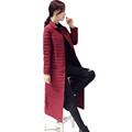 Winter Woman Maxi White Duck Down Coat Wine Red Blue Black Gray Long Puffer Jackets Women