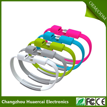 Wholesales Mini Micro Wearable Usb Bracelet Date Charging Line