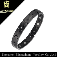 Healthy bio magnetic 316l stainless steel bracelet