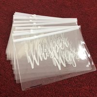 Transparent PVC zipper bag plastic,zipper design STYLE bag,hair bundle packaging bag with your logo
