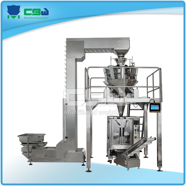 Gummy candy filling packaging machine with multihead scale system