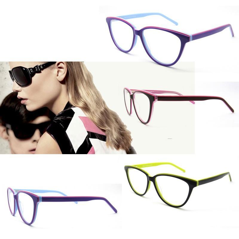Última moda en gafas de acetato para las mujeres morado con bisagra ...