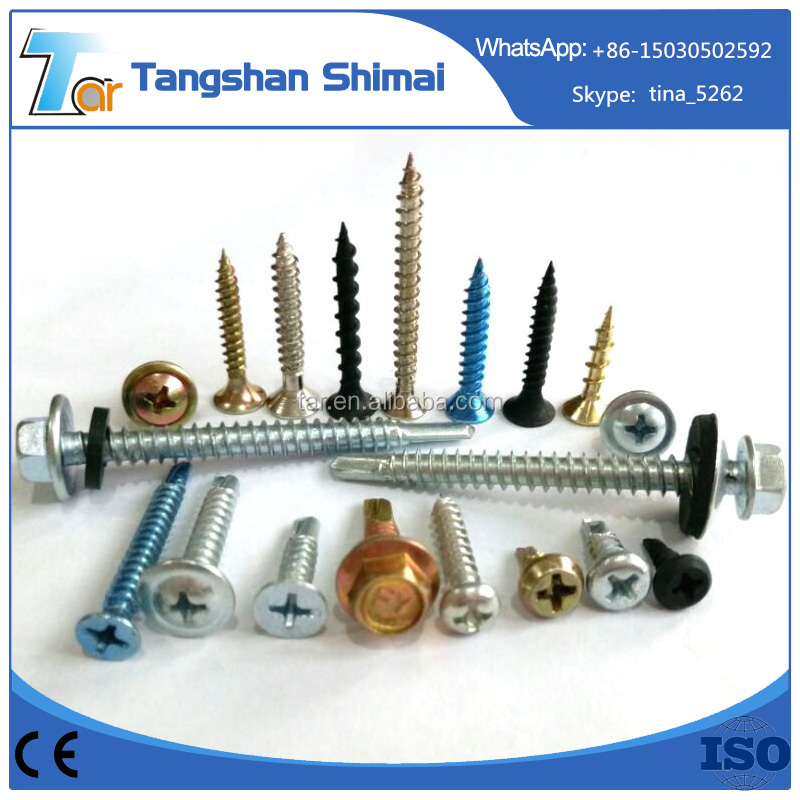 All types of screw for construction