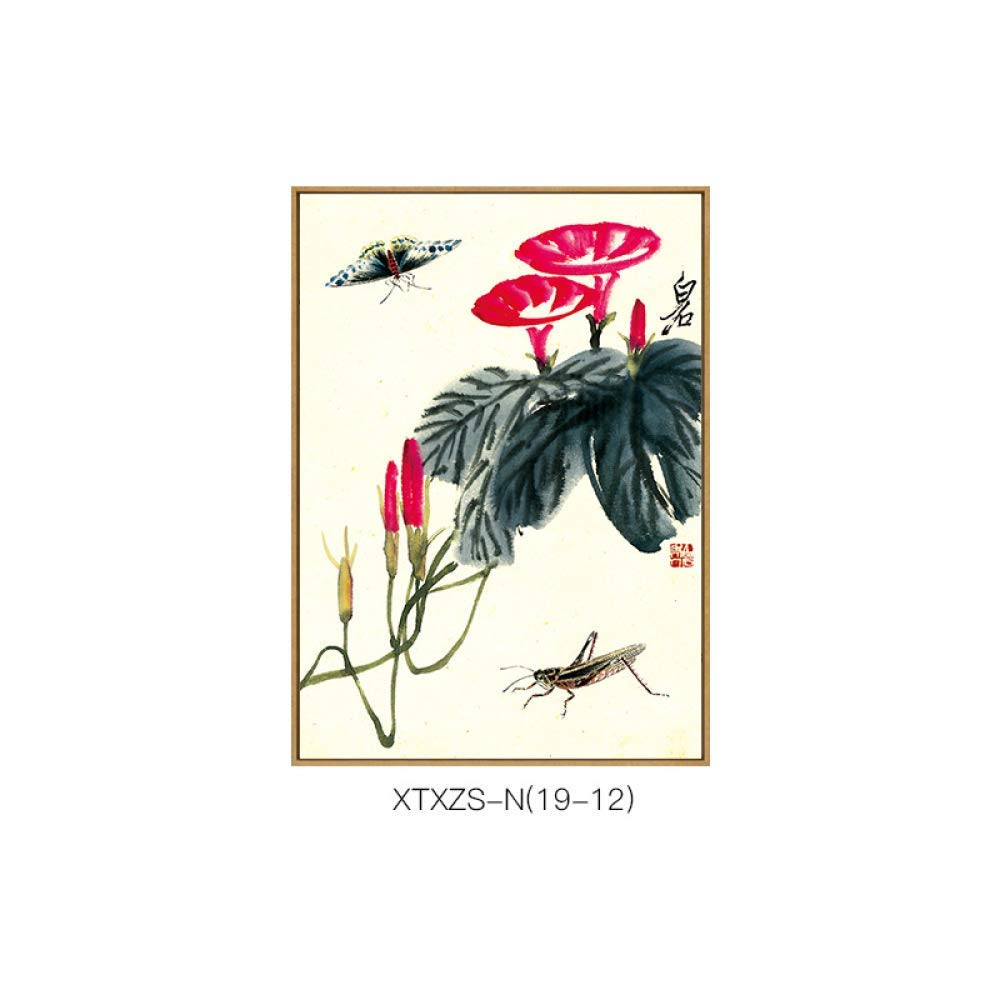 STTS New Chinese-style Chinese painting, ink-and-flower decorative painting, living room study office with frame painting, hanging painting