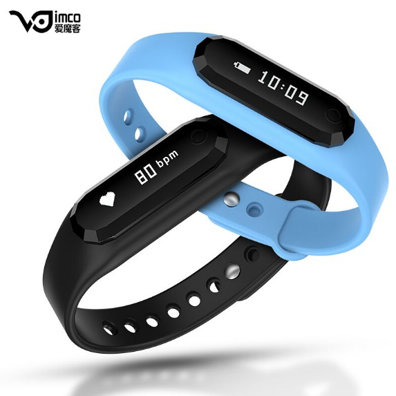 2016 Hot selling Step counting Smart bracelet waterproof alarm clock Heart rate sensor smart band with OLED screen