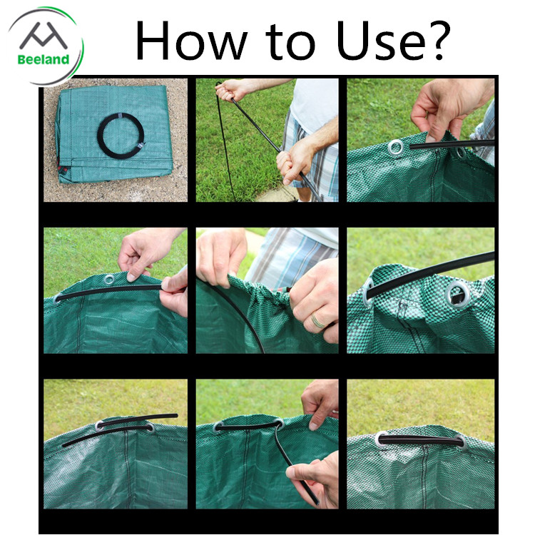 China supplier reasonable price collapsible garden lawn leaf bag