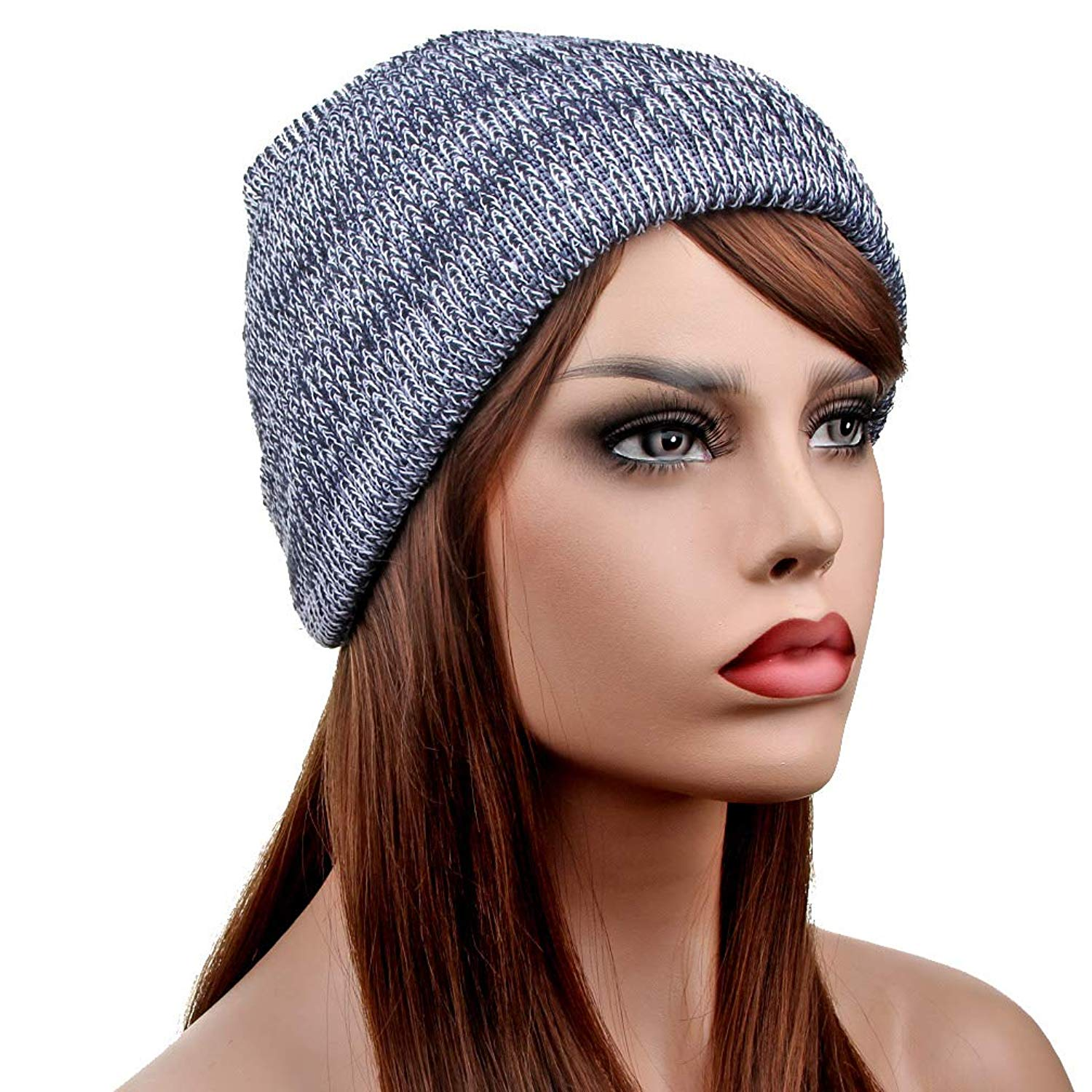 5332502b608 Get Quotations · TENGYI YiTeng Unisex Winter Beanie Knit Crochet Ski Hat  Oversized Cap Hat