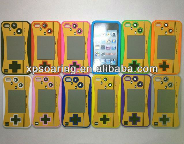 Old games silicon case skin cover for ipod touch 4